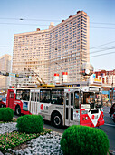 Electric bus on New Arbat Avenue, Moscow, Russia