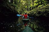 People kayaking in Opara Basin, Box Canyon, West Coast, South Island, New Zealand, Oceania