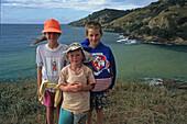 Children, Coromandel Peninsula, kids on summer holiday, Coromandel, North Island, New Zealand, Sommerferien, Coromandel Halbinsel
