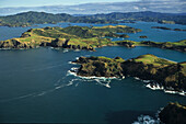 Aerial Bay of Insel, Bay of many green Insels bays and beaches, scenic flight, malerische Buchten zahlreiche Inseln, Luftaufnahme, aerial