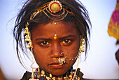 Indian girl, Pushkar, Rajasthan, India, Asia
