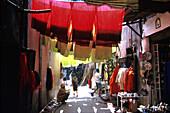 Dyers Souk, Market, Marrakesh, Morocco