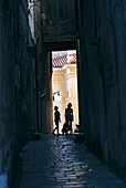 Dark alleyway, Sibenik Croatia