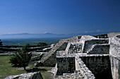Ruins of a temple in the sunlight, Xochicalco, Morelos Mexico, America