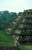 View at Niche pyramid at El Tajin, Veracruz, Mexico, America