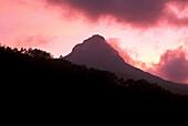Sri Papda Adam Peak at sunset, Highlands, Central Province, Sri Lanka, Asia