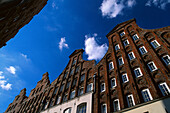 Brick House gables, Wahmstrasse, Old Town, Luebeck Schleswig-Holstein, Germany