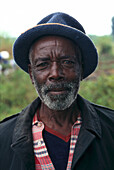 African Man, Virunga Mountains, Zaire