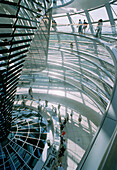 People visiting cupola, Reichstag building (parliament), Berlin, Germany