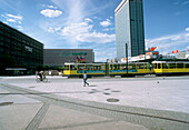 Tram passing Alexanderplatz, Berlin, Germany
