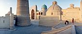 Square and Mosque, Madrassah, Bukhara, Uzbekistan