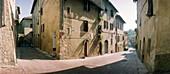 Alley in Certaldo, Chianti, Tuscany Italy