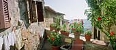 Balcony, Certaldo, Tuscany Italy