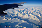 Aerial View from an aeroplane, Mountains, Greenland