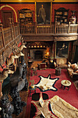 The Grand Hall, Kinloch Castle, Isle of Rum, Inner Hebrides, Scotland