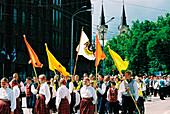 Traditional costumes, Tallinn Estonia