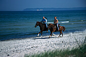 Riders, Beach of Seaside Resort Binz, Ruegen, Mecklenburg-Vorpommern, Germany