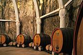 cellars of Chateau Romanin, Saint Rémy de Provence, France