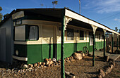 NSW, The town known as The Ridge is near the Queensland border, Alternative accommodation in a converted Sydney tram in opal town Lightning Ridge