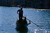 Gondolier, Venice Venetien, Italy