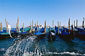 Gondolas, San Giorgio, Venice Venetien, Italy