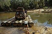 Wenlock River Crossing, barge river crossing, Telegraph Track, Cape York Peninsula, Queensland, Australia