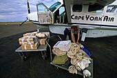 Mail flight, Cape York Peninsula, Australien, Queensland, Postflug Cape York Peninsula. Scenic flight with the post.