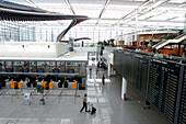 Departures, Terminal 2, Airport Munich Bavaria, Germany
