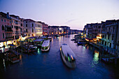 Evening atmosphere on the Canale Grande, Venice, Italy