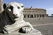 Piazza del Plebiscito, Palazzo Reale, Napoli, Neapel, Piazza del Plebiscito mit Palazzo Reale
