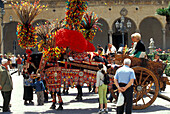 Folklore carriage, Monreale, Sicily Italy