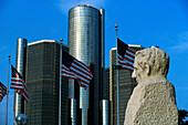 Skyline, Detroit, Michigan USA
