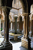 Interier view, Cloister Monreale, Palermo, Sicily, Italy