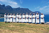 Nuns on the seaside, Cape Town, South africa