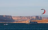 Kiteboarding, Lake Powell-Houseboat, Lake Powell Arizona-USA