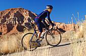 Rennradfahren-Zion National Park, Zion Nationalpark Springdale-Utah-USA