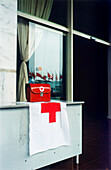 First Aid Kit with red cross, Hanoi, Vietnam