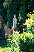 Russian cemetery in the sunlight, Neroberg, Wiesbaden, Hesse, Germany, Europe