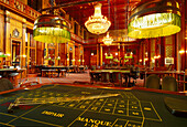 Interior view of the deserted casino at the spa hotel, Wiesbaden, Hesse, Germany, Europe