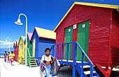 Strandhaeuschen, bei Muizenberg Suedafrika