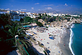 Beach, Nerja, Andalusia Spain