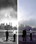 Businesspeople, NYC, York City, before and after the destruction of the World Trade Center WTC, Images of a City Buch, S. 20/21
