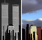 USA, New York City, before and after, USA, before and after the destruction of the World Trade Center WTC, Images of a City Buch, S. 28/29