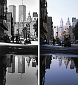 Streetlife, before and after, USA, New York City, before and after the destruction of the World Trade Center WTC, , Images of a City Buch, S. 16/17