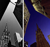 Wall Street, before and after, USA New York City, before and after the destruction of the World Trade Center WTC, , Images of a City Buch, S. 36/37