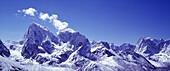 Himalaya, Nepal, Mount Cholatse links, , Taboche mitte, catalogue natureAsien, Himalaya, Gebirge, Berge, Berg, Gipfel, SchneeEnglish: Mount Cholatse left, , Taboche middle, , the Himalayas, Nepal, roof of the world, mountains