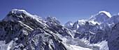 View from Gokyo peak onto Mount Everest, Lhotse, Makalu, Nepal, Asia