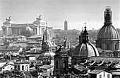 View over Rome, Monumente Vittorio, Emanuele II left, Capitole middle, , Rome, Italy