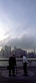 USA, New York City View from Brooklyn, New York City, Blick von Brooklyn, Oktober 2001English: USA, New York City without WTC, October 2001, view from Brooklyn