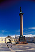 Alexander column, Palace Square, Thriumphal Arch St. Petersburg, Russia